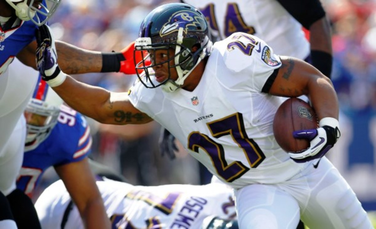 Ray Rice has yet to reach 100 yards rushing for the season.