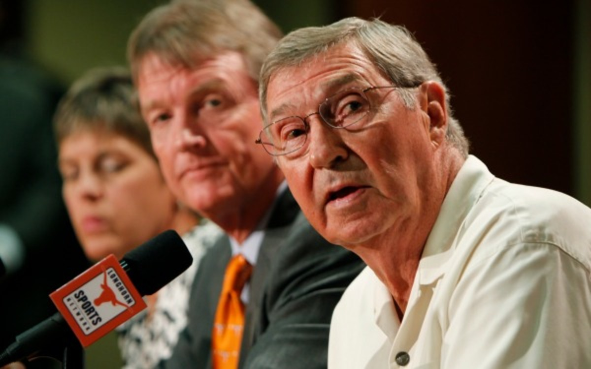 DeLoss Dodds is expected to resign as Texas' AD, according to a report. (Erich Schlegel/Getty Images)