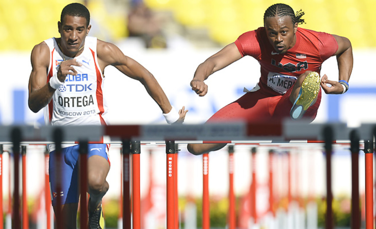 """Orlando Ortega (left) """"abandoned"""" the Cuban delegation at the world championships in Russia."""