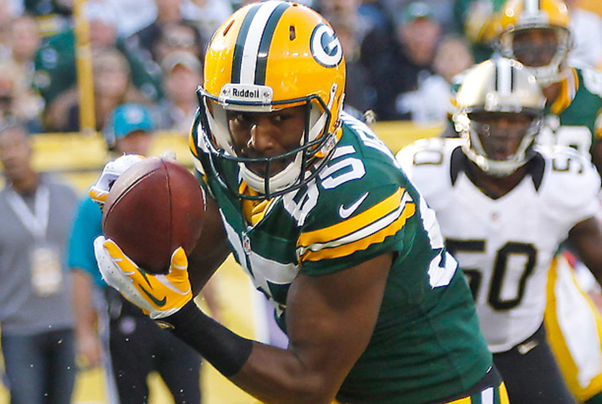 Greg Jennings caught 425 passes over seven seasons with the Packers. (Mike Roemer/AP)