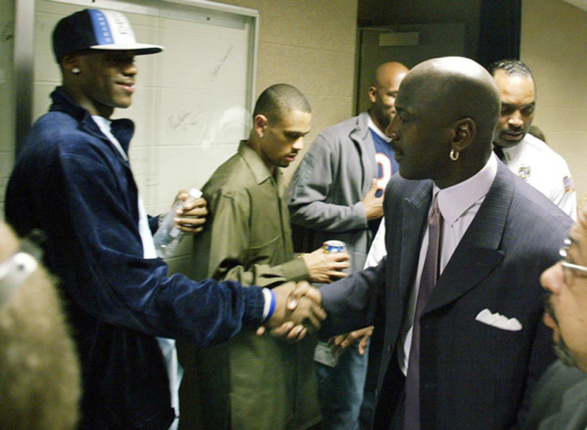 LeBron meets Michael Jordan