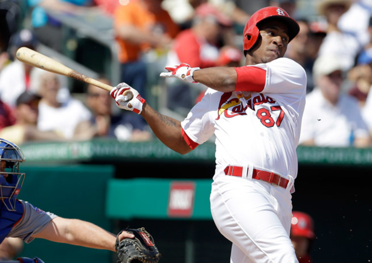 Oscar Taveras has appeared in just 46 games in 2013 and hasn't played since mid-July.