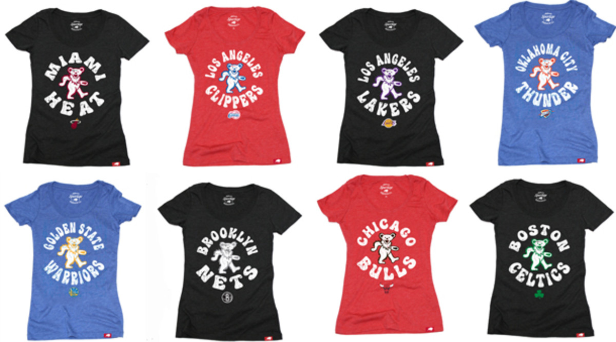 The NBA has partnered with the Grateful Dead to make exclusive t-shirt designs. (NBA)
