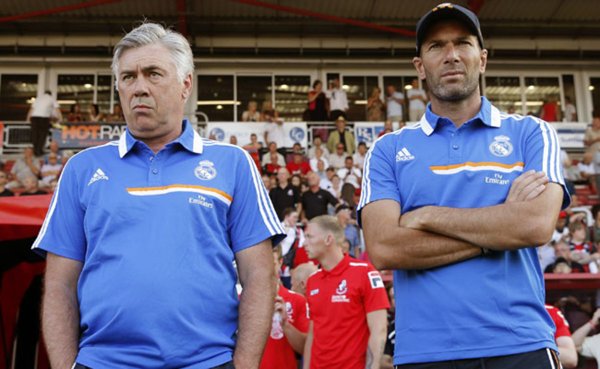 Zinedine Zidane (right) was appointed as an assistant coach for Real Madrid in June.
