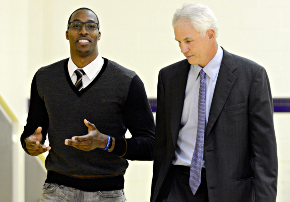 Dwight Howard wanted to tell Lakers GM Mitch Kupchak of his decision to joing the Rockets in person. (Kevork Djansezian/Getty Images)