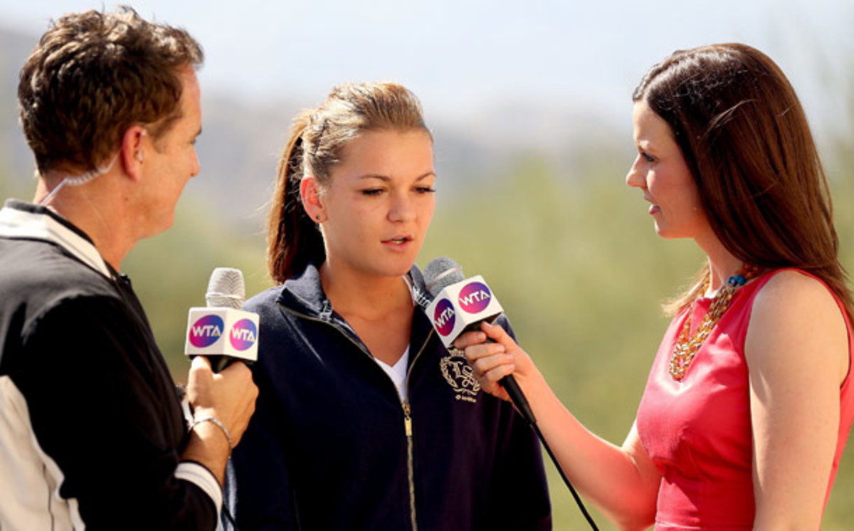 Agnieszka Radwanska was displeased with the Fed Cup experience in Israel. (Getty Images)