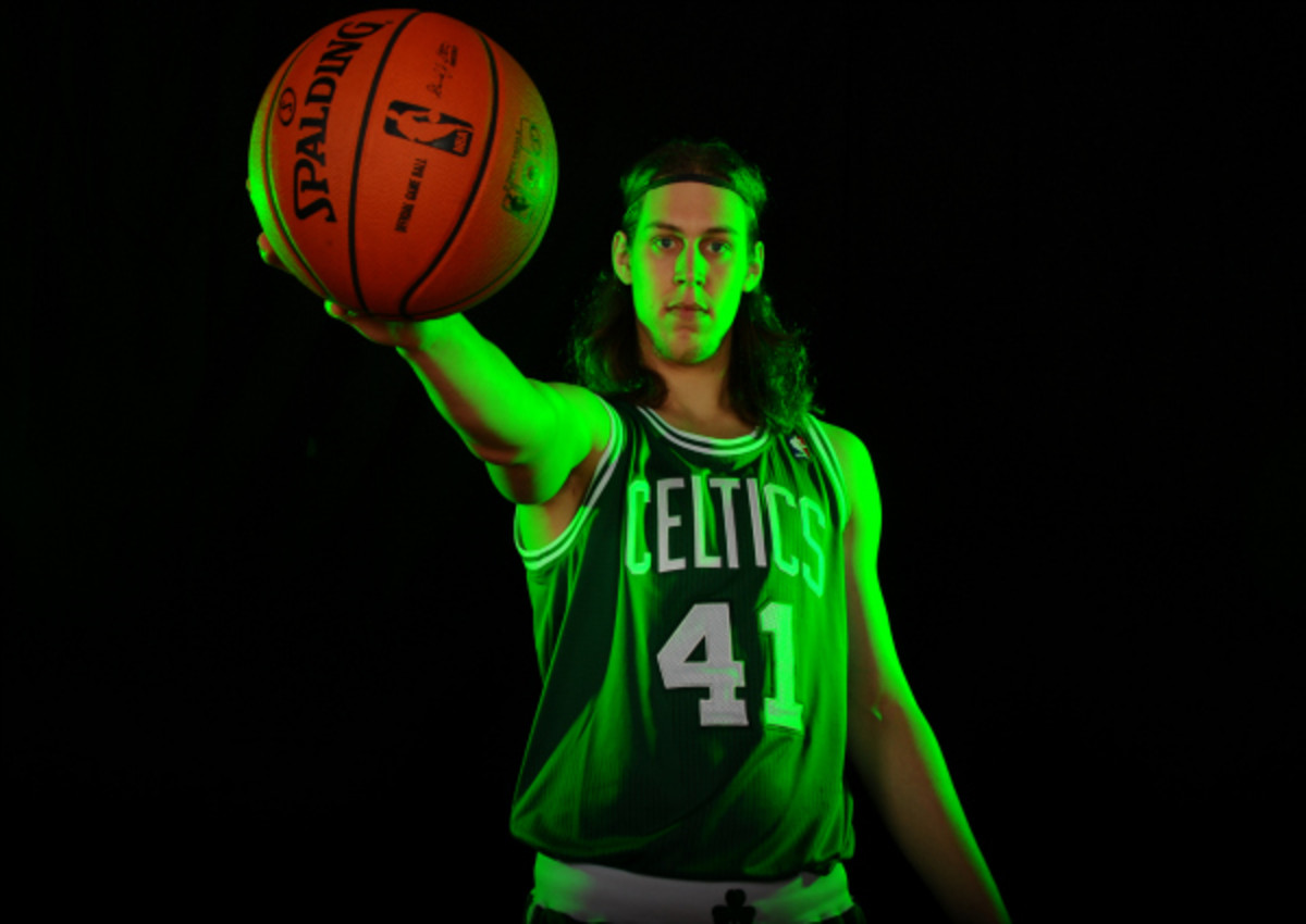 18.2 percent of this season's rookie class thinks that Boston's Kelly Olynyk will go on to have the best NBA career. (Brian Babineau/NBAE via Getty Images)
