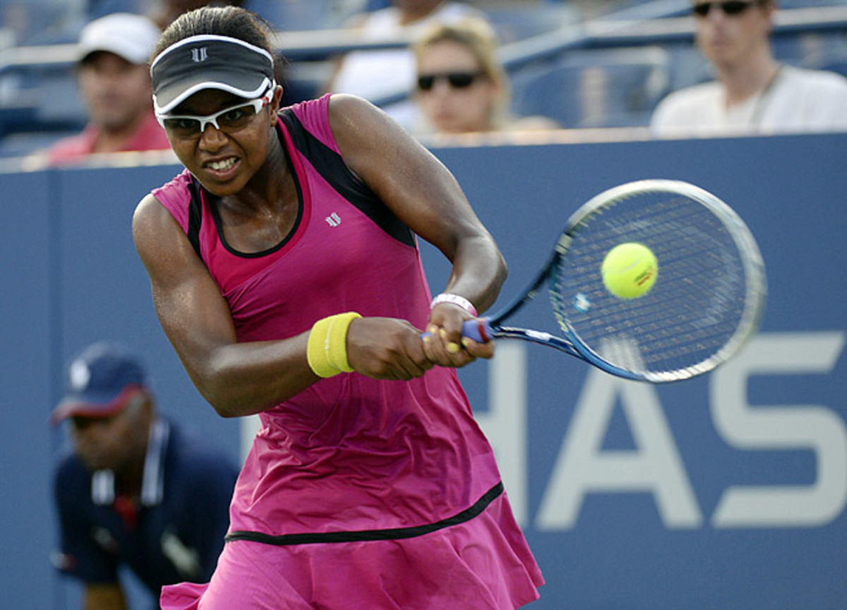 Victoria Duval won her first Grand Slam match Tuesday, upsetting 2011 U.S. Open champ Sam Stosur.