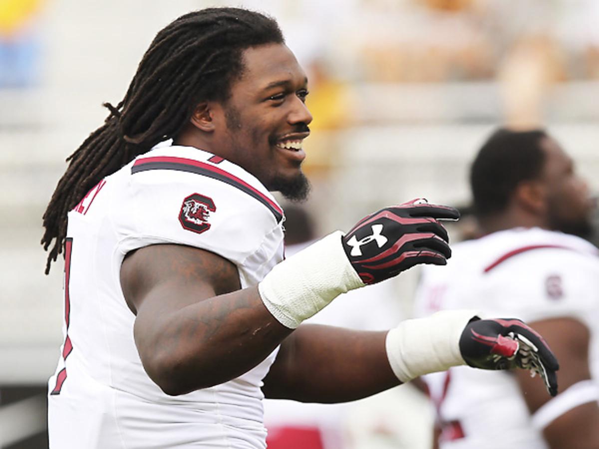 Debate is raging whether Jadeveon Clowney should play again for South Carolina. (Mark LoMoglio/Icon SMI)