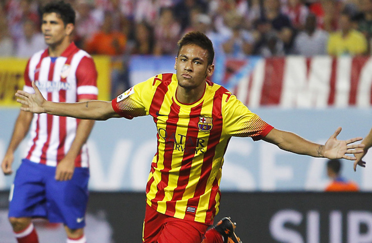Neymar netted a clutch equalizer for his first goal as a member of Barcelona.