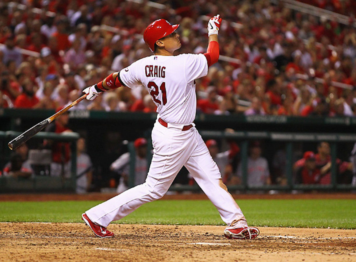 For those who still believe in clutch hitting, Allen Craig struck again with a grand slam against the Reds. [Dilip Vishwanat/Getty Images]