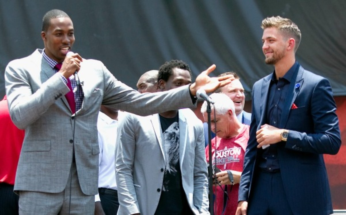 Dwight Howard and Chandler Parsons first became friends in Florida. (Bob Levey/Getty Images)