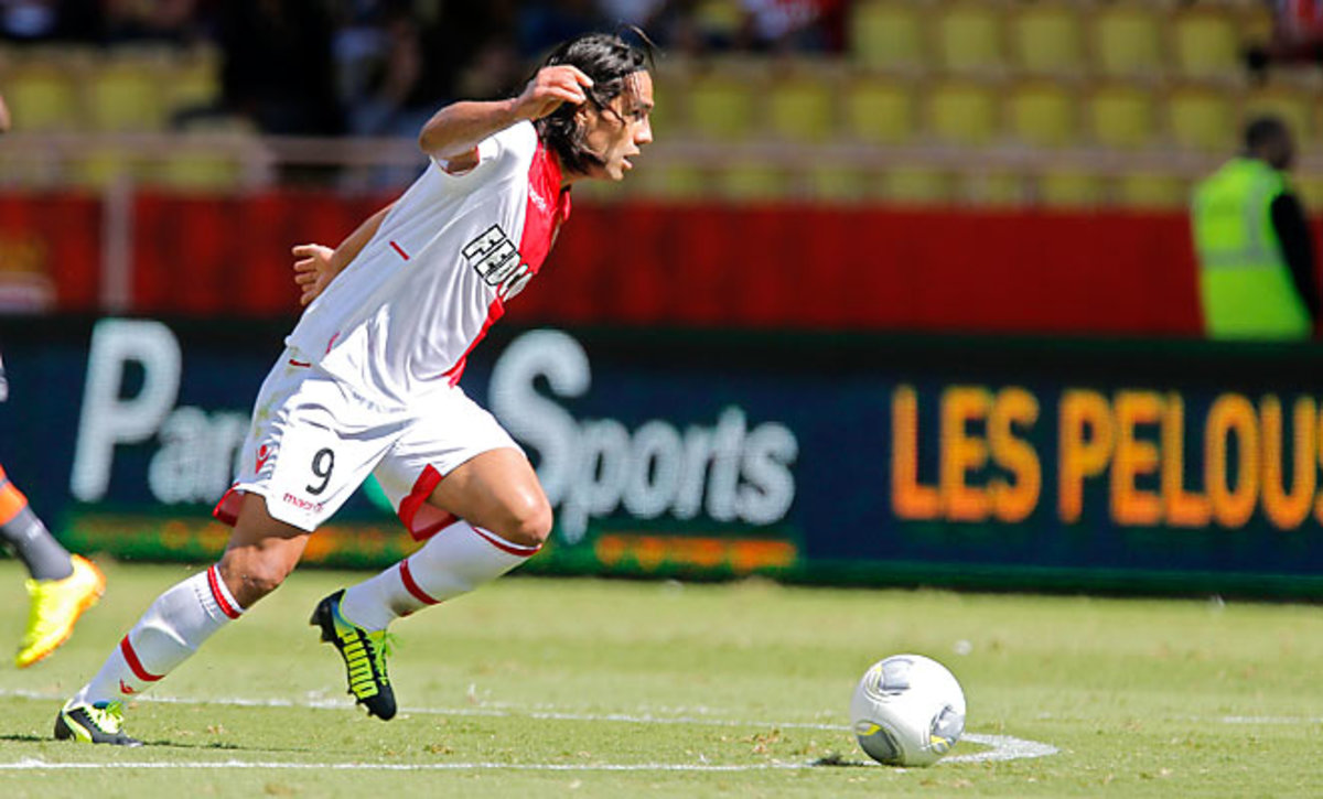 Radamel Falcao scored his fourth goal of the season on a penalty kick against Lorient.