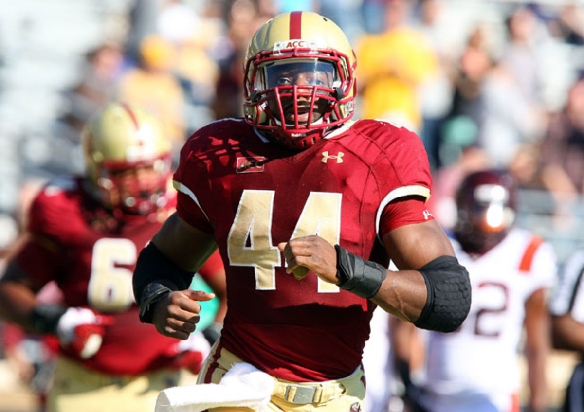 In addition to starring as a running back, Boston College senior Andre Williams (44) excels off the field.