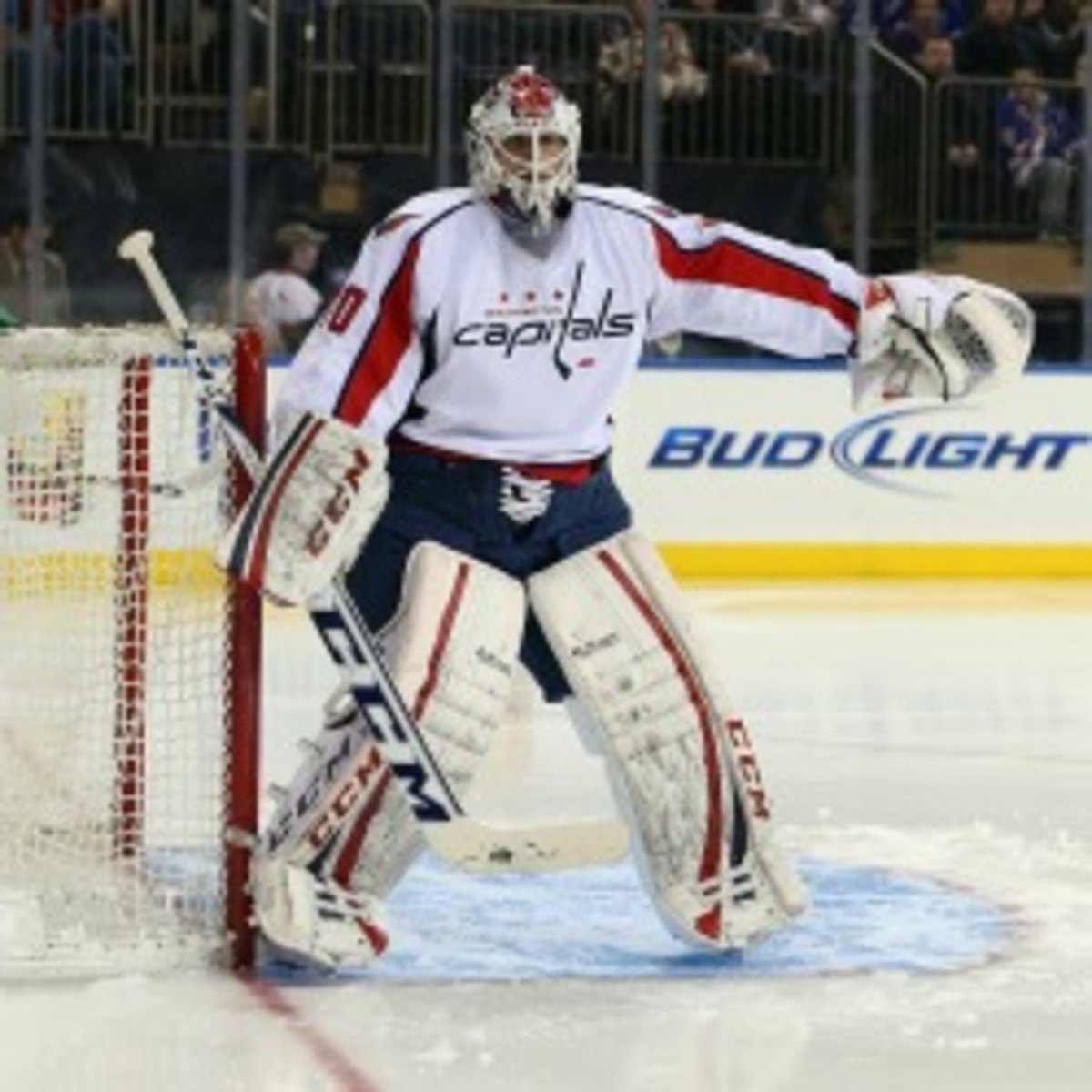 The Capitals signed goaltender Braden Holtby to a two-year extension. (Bruce Bennett/Getty Images)