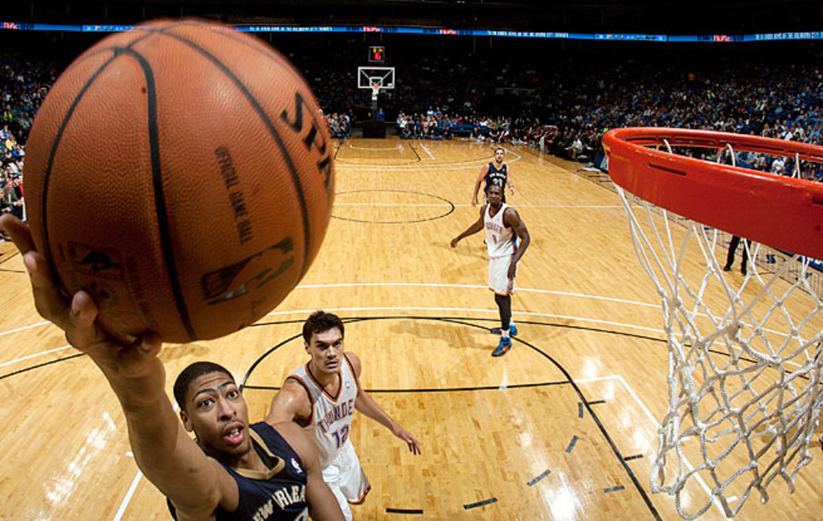 Anthony Davis averaged 16.9 points and 10.2 rebounds per 36 minutes as a rookie last season.