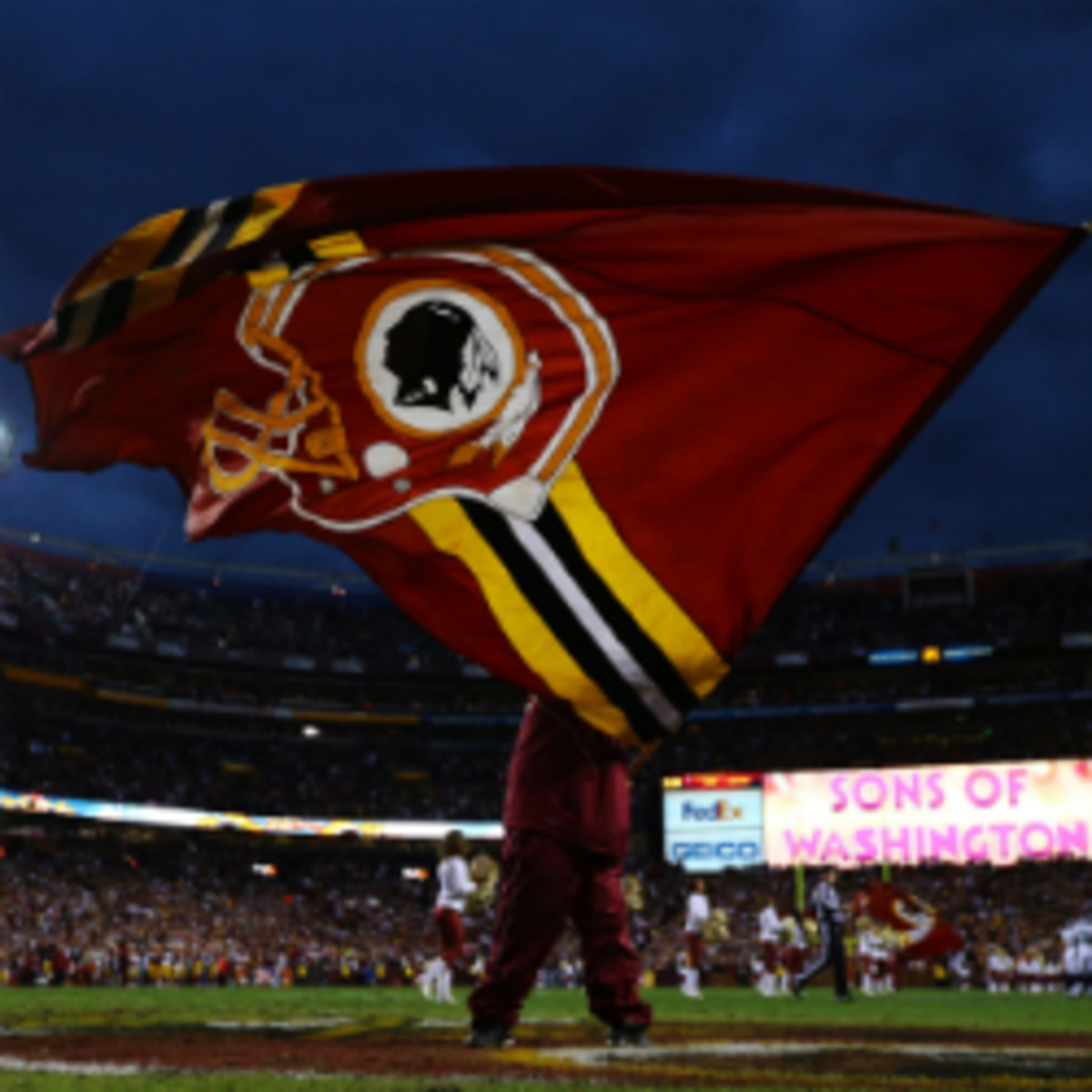 "The Redskins posted an article on their website saying they are ""proud"" of the team's name. (Al Bello/Getty Images)"