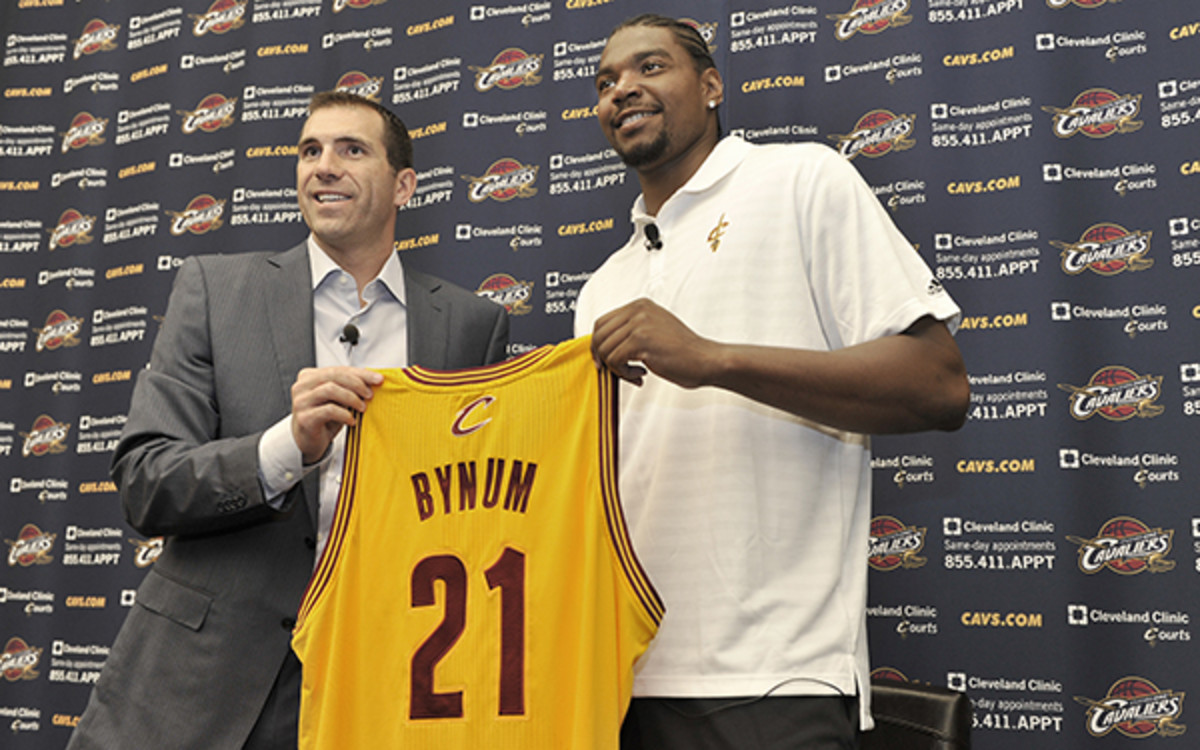 Andrew Bynum will only be guaranteed $6 million of his salary this season. (David Liam Kyle/NBAE via Getty Images)