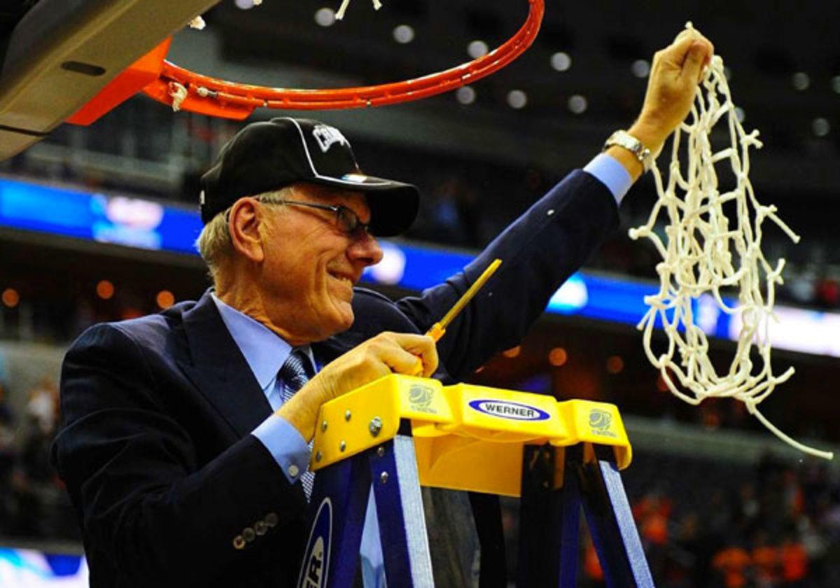 Syracuse advanced to the Final Four for the fourth time under coach Jim Boeheim. (Al Tielemans/SI)