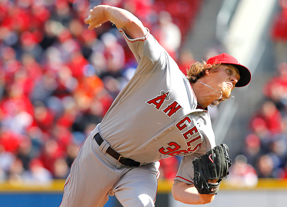 Jered Weaver injured his non-throwing elbow against Texas, but his dipping velocity is more alarming.
