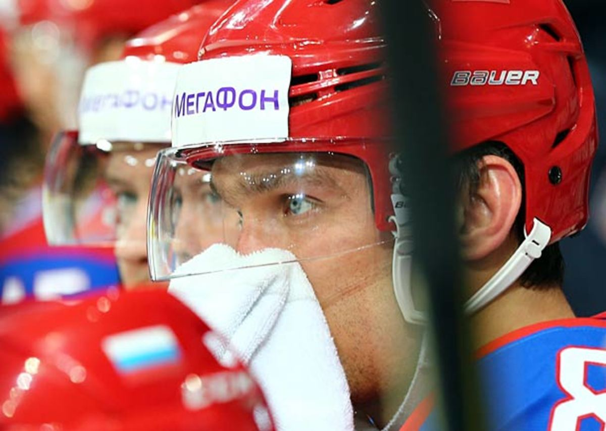 Alex Ovechkin of Team Russia