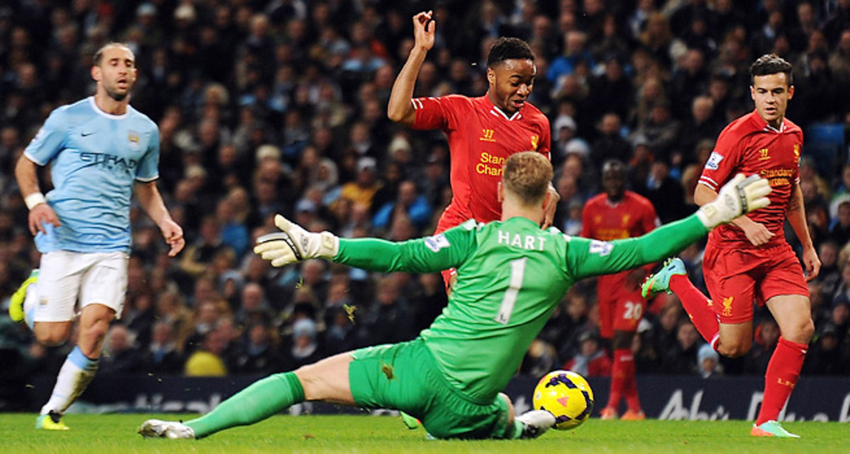 Liverpool was furious Raheem Sterling's apparent first-half goal was wrongly ruled offside.