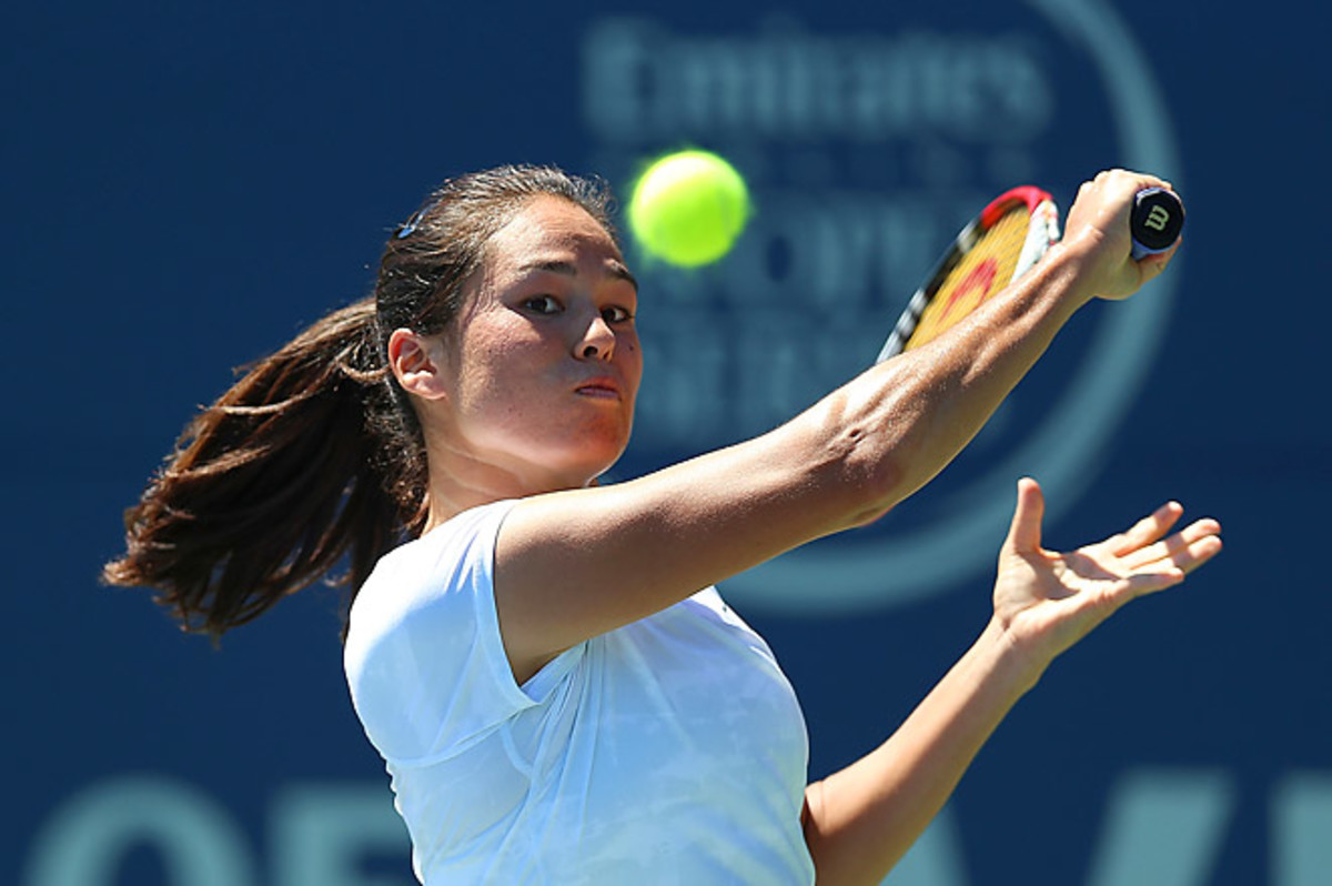Fourth-seeded American Jamie Hampton is playing her first tournament as a seeded player.