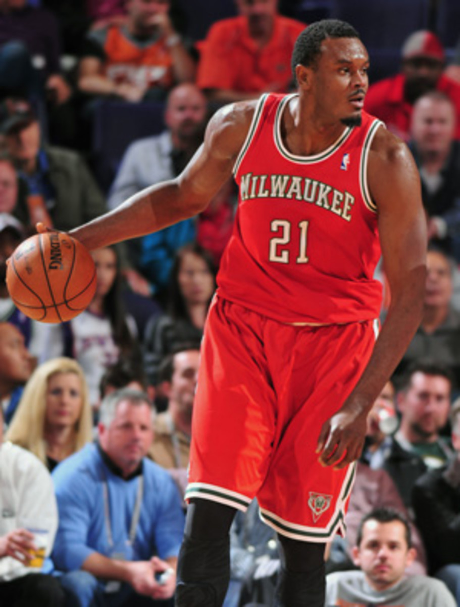 Bucks center Samuel Dalembert was suspended for being late. (Barry Gossage/Getty Images)