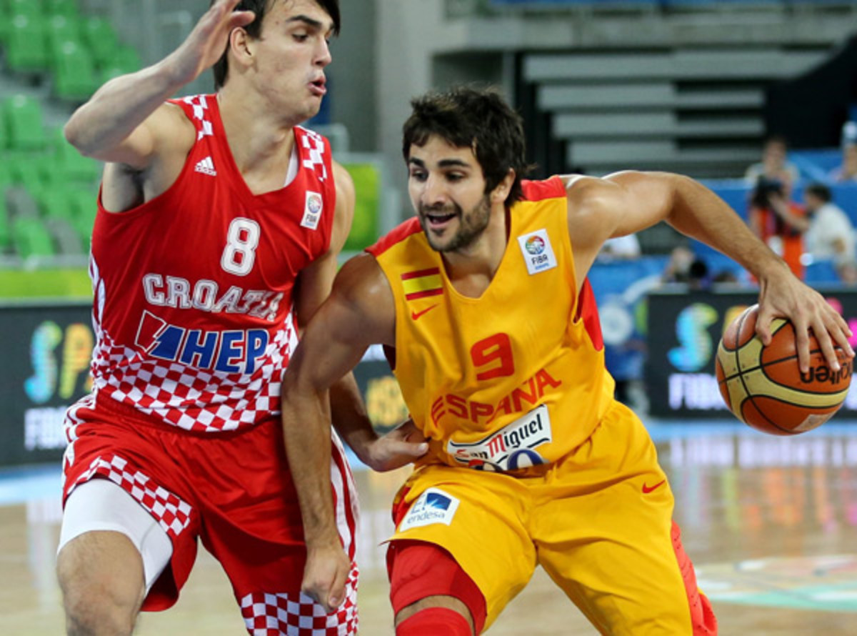 Ricky Rubio played only 20.6 minutes per game because of Spain's depth.