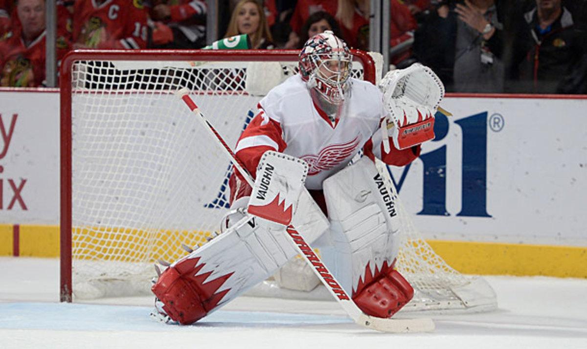 Detroit Red Wings goalie Jimmy Howard
