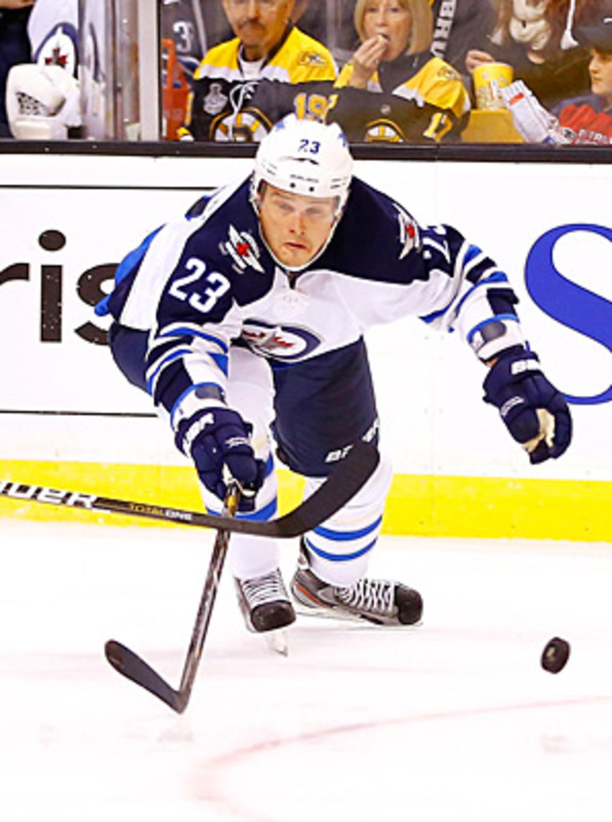 Forward Alexei Ponikarovsky joined the Jets as a free agent last summer. (Getty Images)