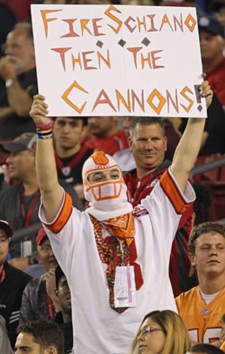 More than one Tampa Bay fan has lost confidence in coach Greg Schiano.