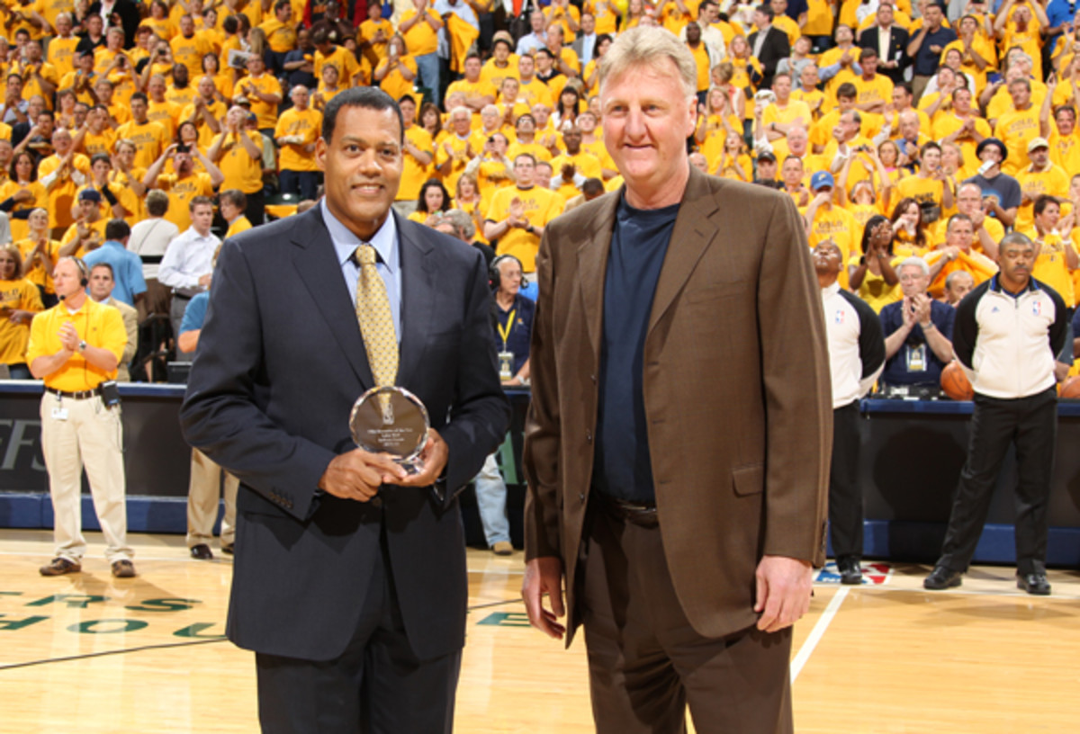 Larry Bird (right) was named Executive of the Year in 2012.