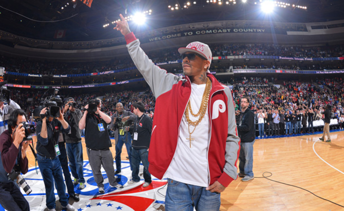 Allen Iverson was honored with a bobblehead in Philadelphia on Saturday. (Jesse D. Garrabrant/Getty Images)