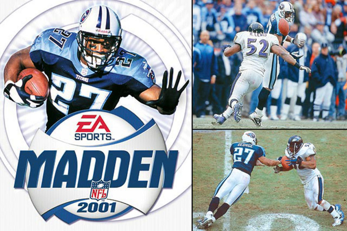 The genius of Eddie George was only amplified in Madden. Who can forget the 300- and 400-yard games? (EA Sports :: Bob Rosato/SI :: Bill Frakes/SI)