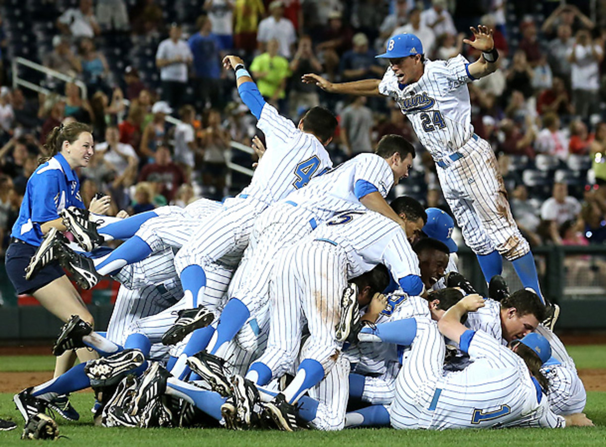 UCLA used unhittable pitching and effective small ball on its way to a College World Series title. [Stephen Dunn/Getty Images]