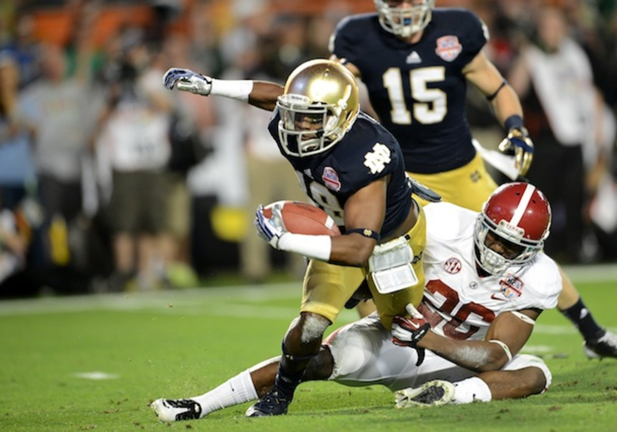 Davonte' Neal's appearance in last season's national title game will reportedly be his last for the Fighting Irish. (AP)