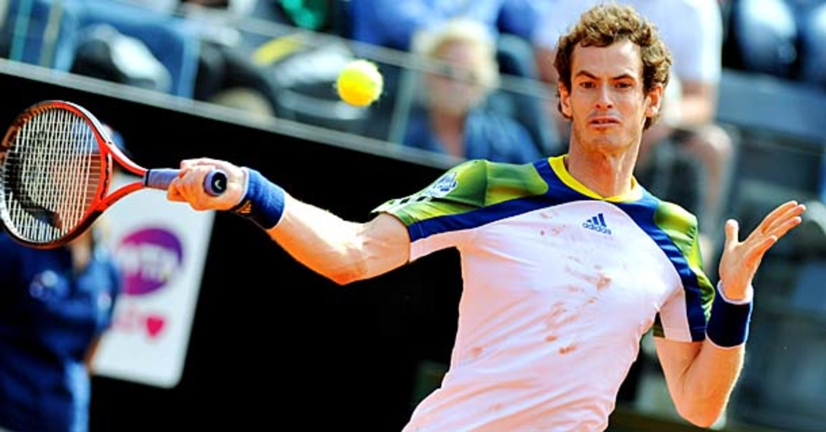 Andy Murray was forced to pull out of the Internazionali BNL d'Italia in Rome due to a lower back problem.(Clive Brunskill/Getty Images)