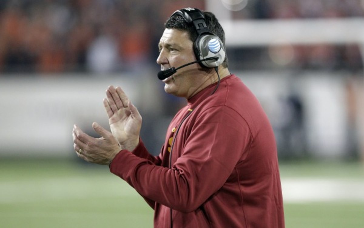 USC still has a chance to play in the Pac-12 Championship Game with two more wins. (AP Photo/Don Ryan)