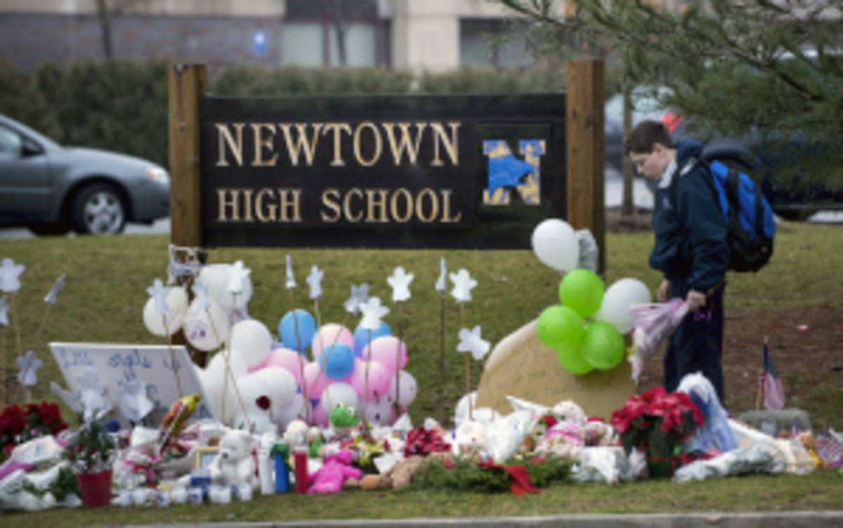The Nighthawks would play for the state championship game on Dec. 13 or 14, the one year anniversary of the Sandy Hook shootings. (Brendan Smialowski/Getty Images)