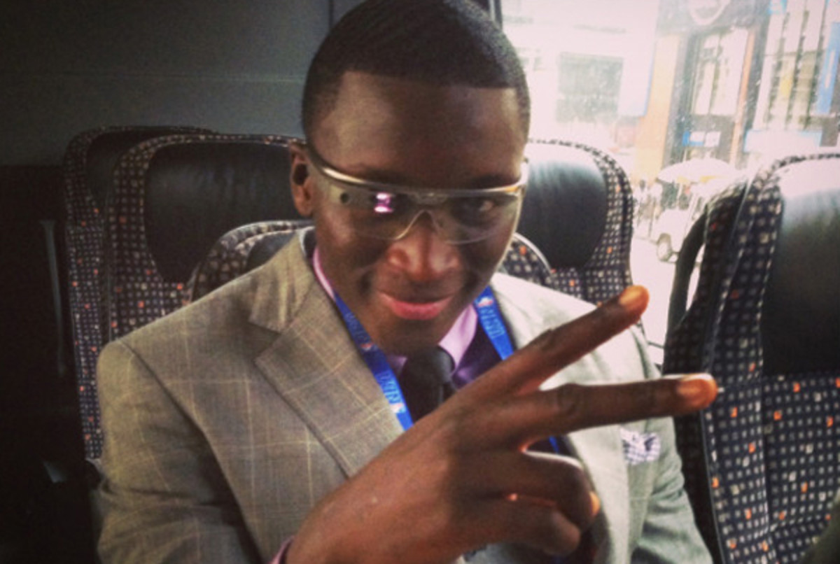 Victor Oladipo wore Google Glass to the NBA draft.