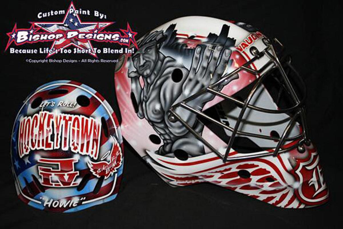 Detroit Red Wings goalie Jimmy Howard's new mask.