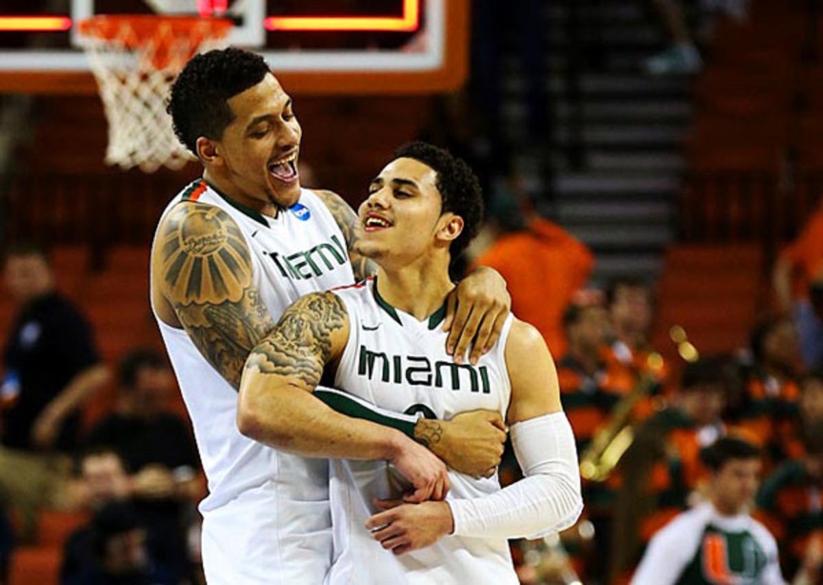 Shane Larkin and the Hurricanes have received the most March Madness social media mentions (Stephen Dunn/Getty Images)