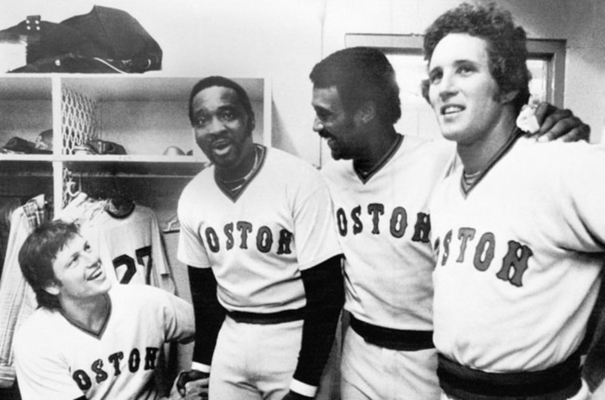 George 'Boomer' Scott (second from left) was with the Red Sox in 1966-71, 1977-78, and 1980.