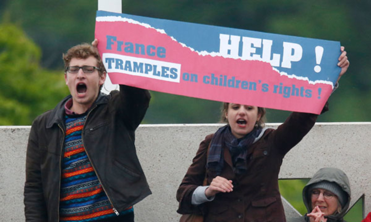 French Open final protest