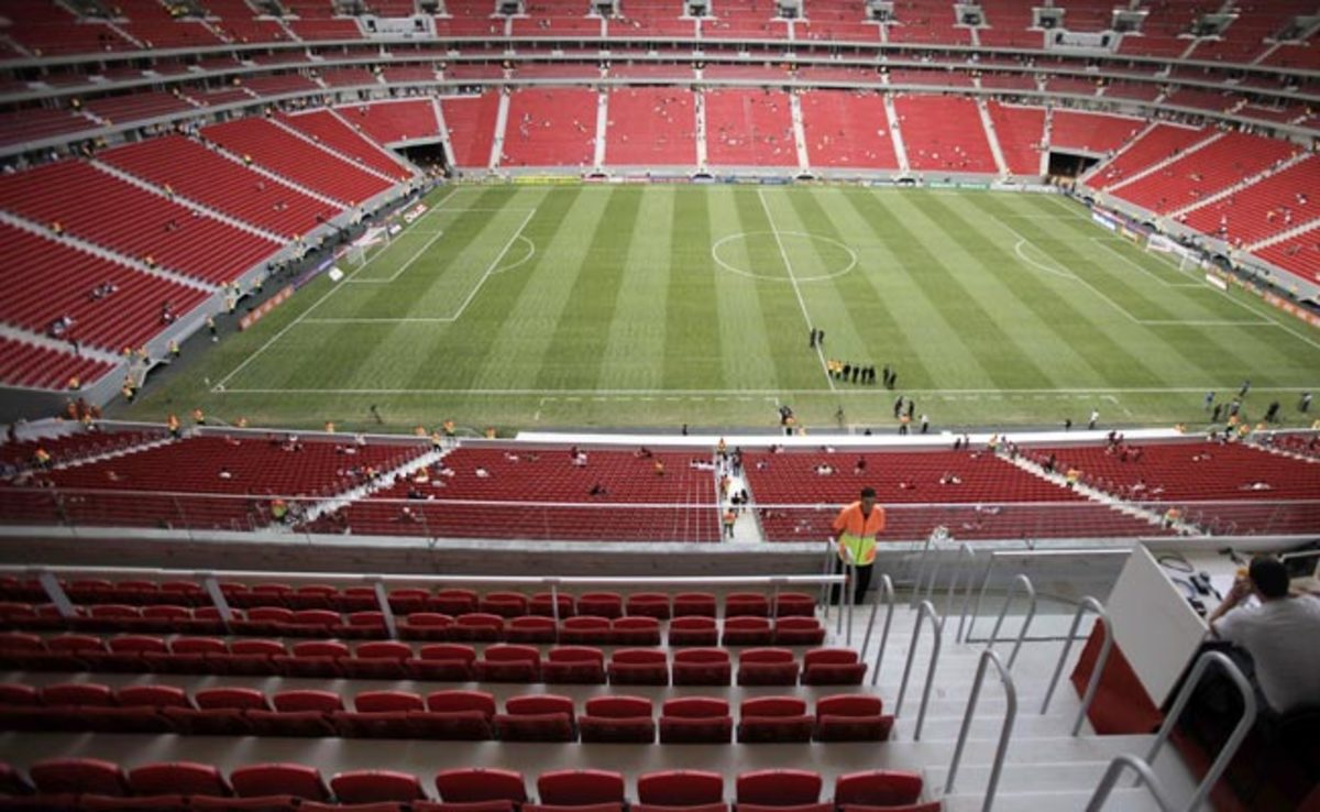 Estádio Nacional Mané Garrincha is one of 12 Brazilian stadiums expected to host the 2014 World Cup.