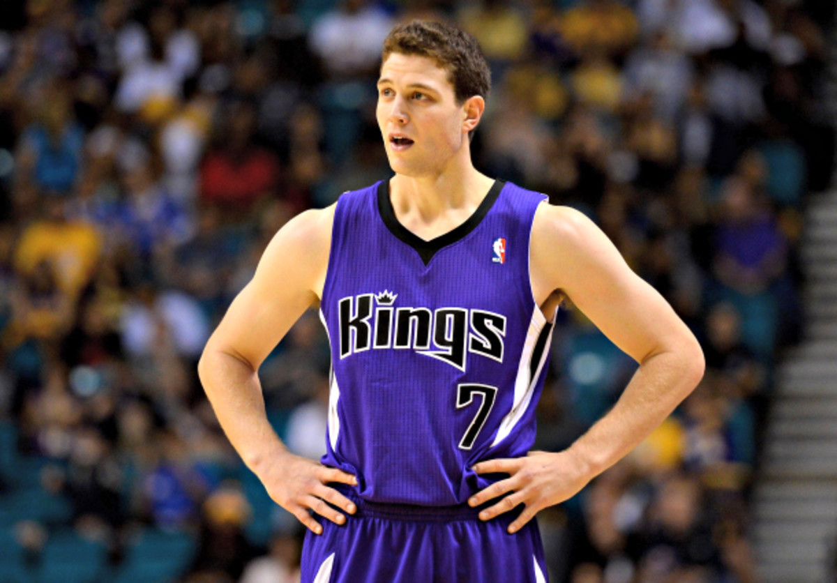 Jimmer Fredette was acquired by the Kings on draft day after being selected with the No. 10 pick in the 2011 NBA draft. (Ethan Miller/Getty Images)
