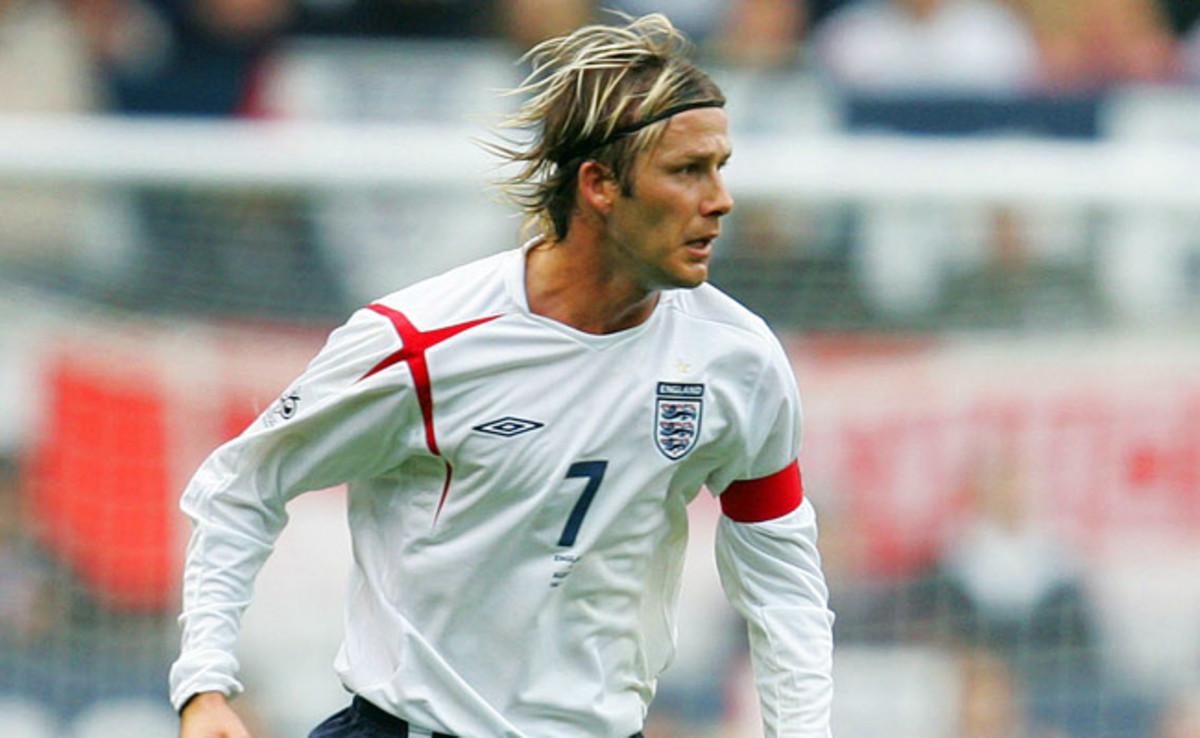 David Beckham earned 115 caps for England.