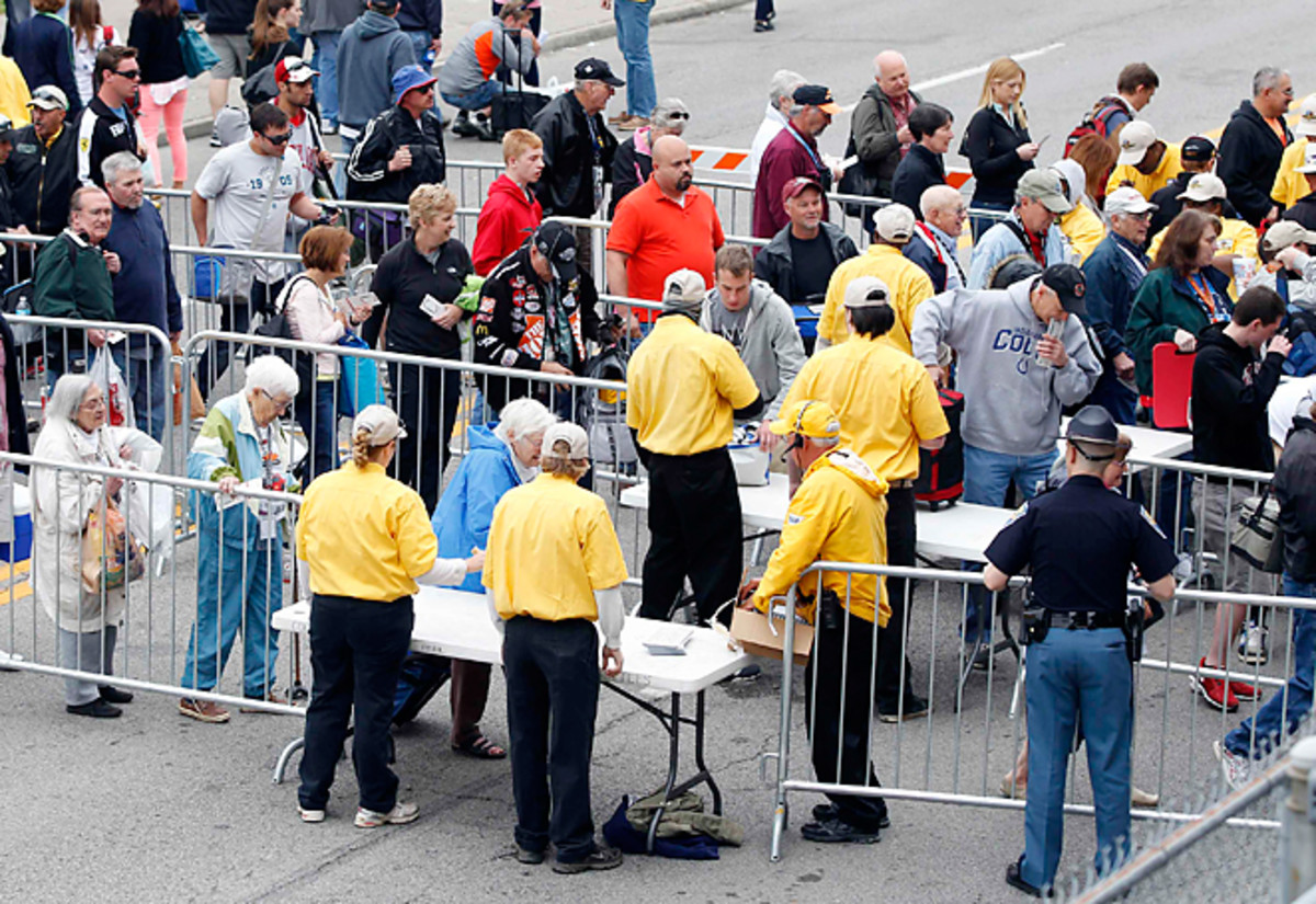 Some fans were forced to wait as long as two hours to get through security at the Indianapolis 500.