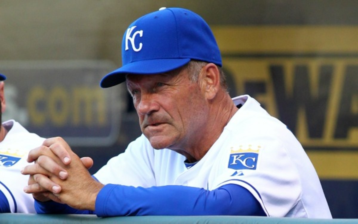 George Brett extended his role as interim hitting coach an extra month before stepping down. (Tim Umphrey/Getty Images)